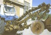Chain trencher ETC-165F with disc milling equipment